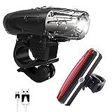 LED Fahrradbeleuchtung Set, USB Wiederaufladbare Wasserdicht LED Fahrradlicht Set - Vorder Fahrradbeleuchtung und Rücklicht Fahrradlampe - 4 Licht-Modi für Radfahren, Camping und täglichen Gebrauch - Not Just A Gadg