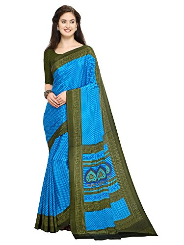 Applecreation Women's Crepe Sky Blue Saree With Blouse Latest Collection (Free Size_2CRP20010A...