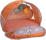 Bieco 37144094 - Baby Zelt mit Decke, Pop-Up Spielbogen und UV, Schutz, ca. 75 x 52 x 50 cm, orange