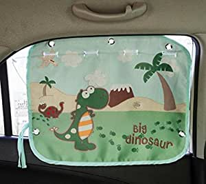 tokkids sonnenschutz auto f r kinder und babys sonnenblende f r autofenster dinosaur. Black Bedroom Furniture Sets. Home Design Ideas