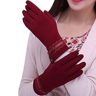 Amcool Touch Screen Handschuhe, Winter Warm Cool Luxus Sport im Freien Handschuhe … (Rot)