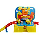 Toyshine 2 In 1 Engineering Track Set Cum Sitting Stool Toy With Music And Lights