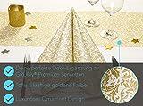 GRUBly Tischläufer Tischband Gold Ornament Hochzeit, Luxus AIRLAID, 30cm x 20m | Tischdekoration für Hochzeit, Geburtstag, Weihnachten, Party - 4