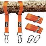 iRainy Tree Swing cinghie, 997,9 kilogram non elasticizzato Swing Hanging kit con moschettoni extra forte da trasporto perfetto per pneumatico e disco altalene e amache -arancia