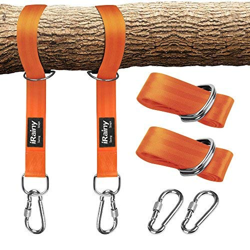 iRainyTree Swing Hanging Straps,Kit de columpio Swing sin estiramiento con cerradura de...