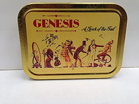 Genesis - A Trick of the Tail album. Classic rock band, vinyl cover. Gold Sealed Lid 2oz Tobacco Storage