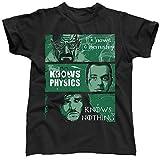 Know nicad fisica niente Walter White Sheldon Cooper Jon neve Breaking Bad Big Bang Theory Game Of Thrones, da uomo T-Shirt