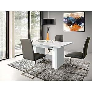 FINLANDEK Table a manger extensible KOVA 140-273x75cm - Blanc brillant