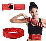 Urcover elastischer Unisex Sport Gürtel mit Hüfttasche zum Verstauen von Schlüssel & Handy bis 6,3 Zoll Bauchgürtel Waist Bag Lauf-Gürtel M in Rot