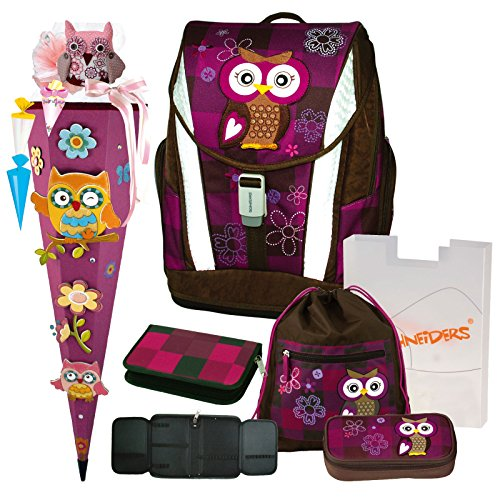 Olivia the Owl Eule Schulranzen Set TOOLBAG SOFT...