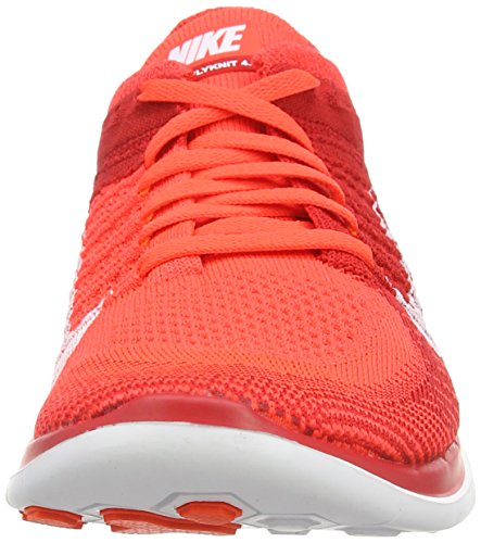 Nike Free 4.0 Flyknit, Chaussures de Running Entrainement Homme Rouge (brght Crmsn/white-unvrsty Rd-t 601)