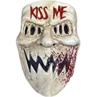 The Rubber Plantation TM 619219291729 The Purge Mask Kiss Me Halloween Fancy Dress Adult Sized Costume Accessory, Unisex, One