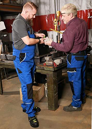 TMG® Herren Latzhose für Mechaniker/Klempner – Royalblau (W44 S / EU30) - 7