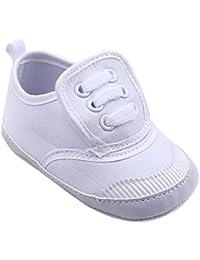 Niños Niñas Bebe Zapatos de Lienzo Recien Nacido Primeros Pasos de Antideslizante Color sólido Zapatillas