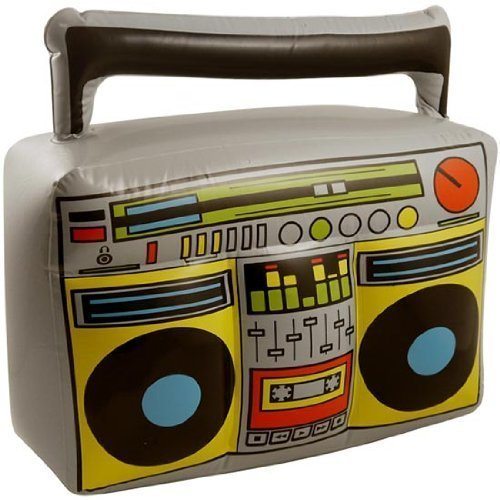 BLOW UP INFLATABLE BOOM BOX PARTY COSTUME ACCESSORY HIP HOP 80'S FANCY DRESS by Partyrama