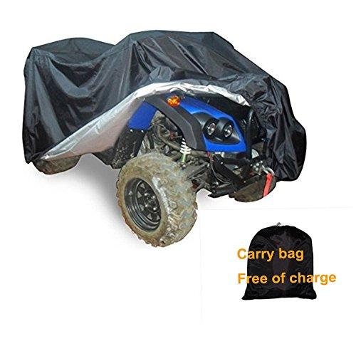 GenialES Funda Cubierta Universal Quad Bike ATV ATC Material 190T Sunproof Waterproof Heatproof Cover UV Protector para Moto Negro XL:210x120x115cm