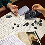 SIQUK Metal Polyhedral 7-Die Dice Set with Metal Case for Dungeons and Dragons RPG Dice Gaming D&D and Math Teaching