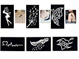 Tattoo Schablonen/Vorlagen 6 kleine Sheet Set Mini 2 für Henna Tattoo Glitter Tattoo Air Brush Tattoo