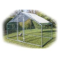 Speedwellstar Walk In Chicken Dog Pen Run Cage Coop House Kennel Large Metal 3x2m FREE Shade