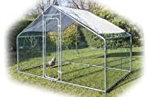 Speedwellstar Walk In Chicken Dog Pen Run Cage Coop House Kennel Large Metal 3x2m FREE Shade