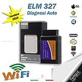 ELM 327 CON INTERFACCIA WIFI OBD2 CAN-BUS DIAGNOSI AUTO OBDII V 1.5 IOS ANDROID WINDOWS SYMBIAN SCANNER CENTRALINA AUTO IN MODALITA' WIRELESS