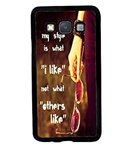 Fuson 2D Printed Quotes Designer back case cover for SAMSUNG GALAXY A3 A300F - D4536