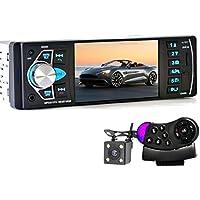 Sannysis Car Video Radio 4 pulgadas HD TFT pantalla Bluetooth / Radio FM estéreo / MP4 / MP5 + Control Remoto del Volante + Cámara