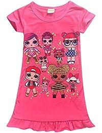 Vannie LOL Surprise Dolls Niña Vestido de Princesa Cosplay Skirt Mangas Cortas Vestido Princesa Falda Fiesta