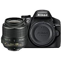 "Nikon D3200 - Cámara réflex digital de 24 Mp (pantalla 2.9"", estabilizador, vídeo Full HD), color negro - kit con objetivo AF-S DX 18-55mm f/5.6 VR II [importado] (Reacondicionado Certificado)"