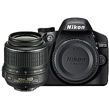 Nikon D3200 Appareil photo numérique Reflex 24.2 Kit Objectif AF-S DX VR II 18-55 mm Noir (Reconditionné)
