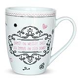Sheepworld 59269 Lieblingstasse Damit Du weißt, dass ich immer an Dich denke, Kaffee-Tasse, mit Geschenk-Anhänger