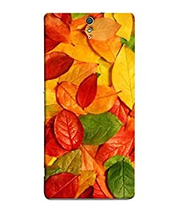99Sublimation Designer Back Case Cover For Sony Xperia C5 Ultra Dual :: Sony Xperia C5 E5533 E5563 Colorfull Leaf Design
