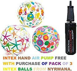 INTEX Inflatable Colorful Beach Balls Pack of 3