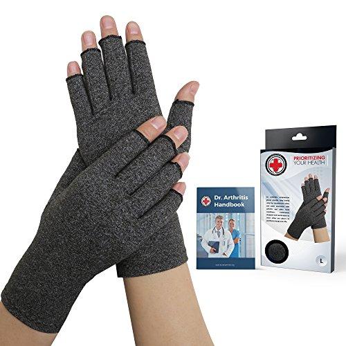 Von Ärzten Entwickelte Arthritis Kompressions-Handschuhe und von Ärzten verfasstes Handbuch – lindert die Symptome von Arthritis, des...