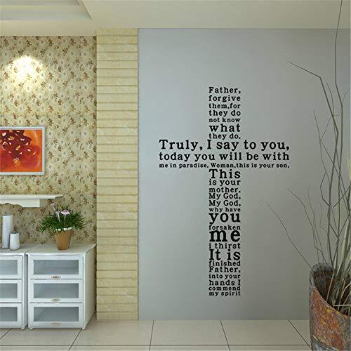 3D Wandaufkleber geschnitzt Wandaufkleber Bibel Gerüchte Kreuz Wohnzimmer Dekoration Aufkleber