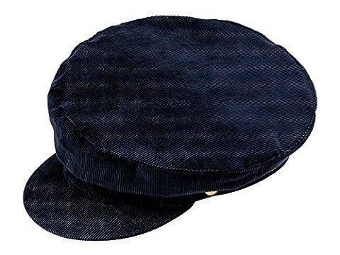 sterkowski hommes de style John Lennon en velours côtelé Bonnet - Bleu - Large