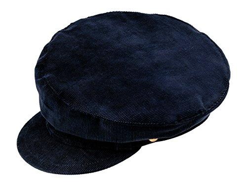 Sterkowski Schirmmütze John Lennon Stil Cord Mütze 59 cm Marineblau Stil Cord