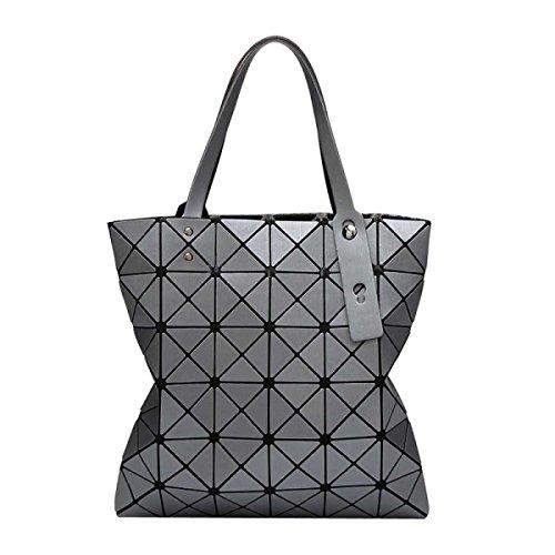 Frauen Geometrische Mode Matte Umhängetasche Grey