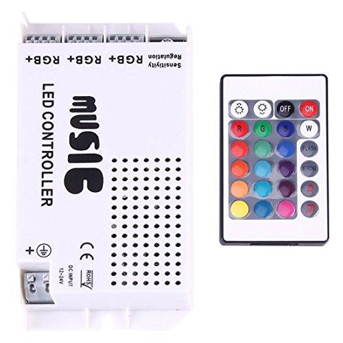 Light Controller, RGB LED Plastic Casing Music Remote Controller avec 24 touches RF Remote Control, DC 12-24V