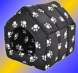 nanook maison corbeille pour chat /chien 'Homeblack' - Taille XL – 47 x 47 x 47 cm