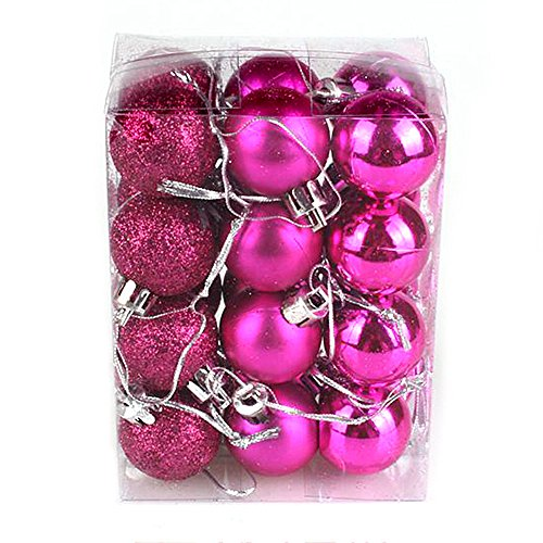 24pcs per natale glitter multi assortite per palle decorative shining christmas tree decor wall decor for home room shop 3cm rosalina