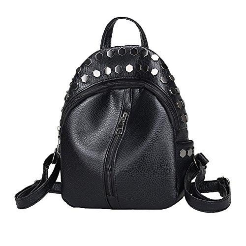 EVAEVA-bags Frauen Rucksack Mädchen Rucksack Schultaschen Jugendliche Rucksack Mini Niet Tasche Angenehmen GroßE Tasche Mit ReißVerschluss