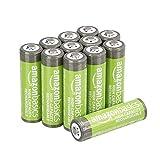 AmazonBasics AA oplaadbare batterijen met hoge capaciteit 2400 mAh (verpakking van 12 stuks) voorgeladen