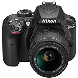 "Nikon D3400 + 18-55 AFP DX, Cámara réflex digital de 24,2 Mp (pantalla LCD 3"", objetivo estabilizado, inalámbrica con Snapbridge, vídeo Full HD), color negro"