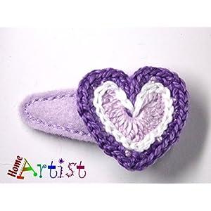 Herz Haarspange für Babys und Kleinkinder - freie Farbwahl