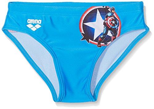 Arena 2477, Costume da Bagno Bambino, Trasparente (Captain America Marvel), 128 (Taglia produttore:8)