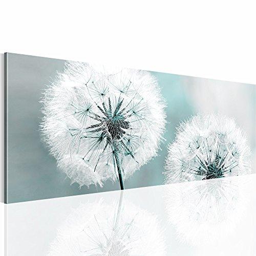 Bilder 110 x 40 cm - Pusteblume Bild - Vlies Leinwand - Kunstdrucke -Wandbild - XXL Format – mehrere Farben und Größen im Shop - Fertig Aufgespannt !!! 100% MADE IN GERMANY !!! - Blume – Natur 207111b