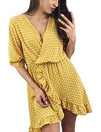 Vestito da Donna    Fami Mini Abito da Donna Floreale con Stampa Floreale a  Maniche f4b5e7aa28a