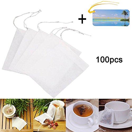 100 tlg,50*60mm Kleine Leere Teebeuteln fuer Losen Tee Teefilter - Papier-tee-filter