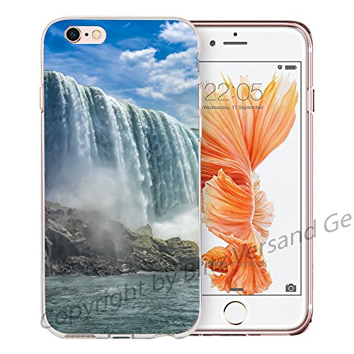 Blitz® NEW YORK motifs housse de protection transparent TPE caricature bande iPhone Lumière polaire M11 iPhone 5 Niagara cascade M14